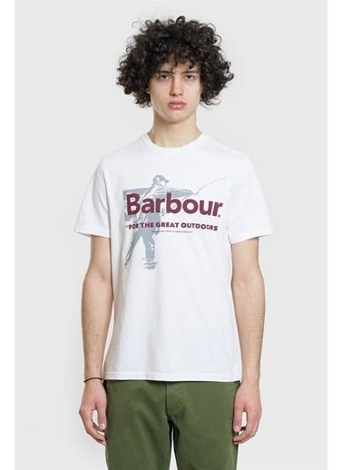 Barbour Tişört Beyaz